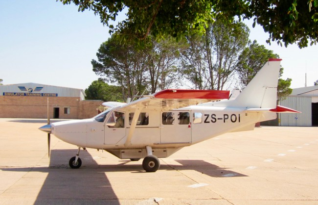 Our plane at Port Alfred