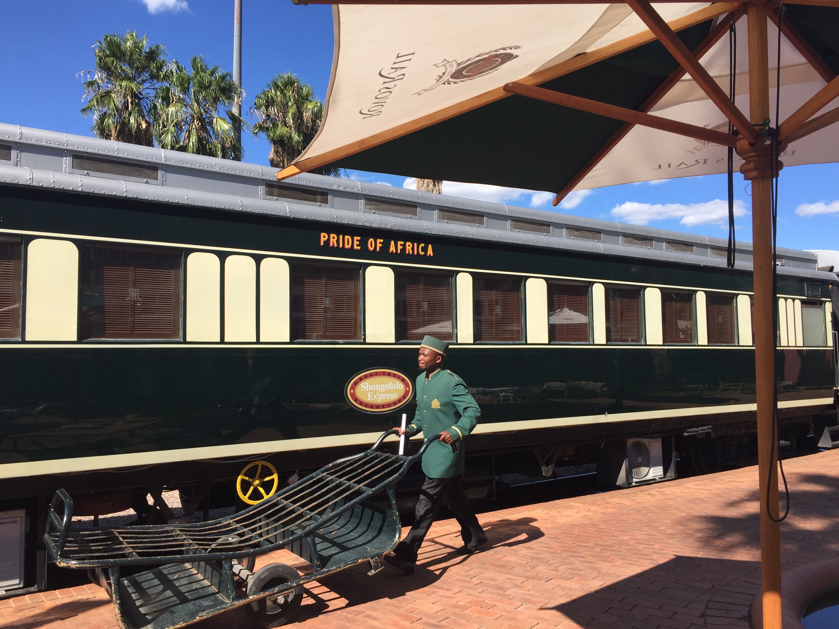 All aboard the Shongololo Express luxury train