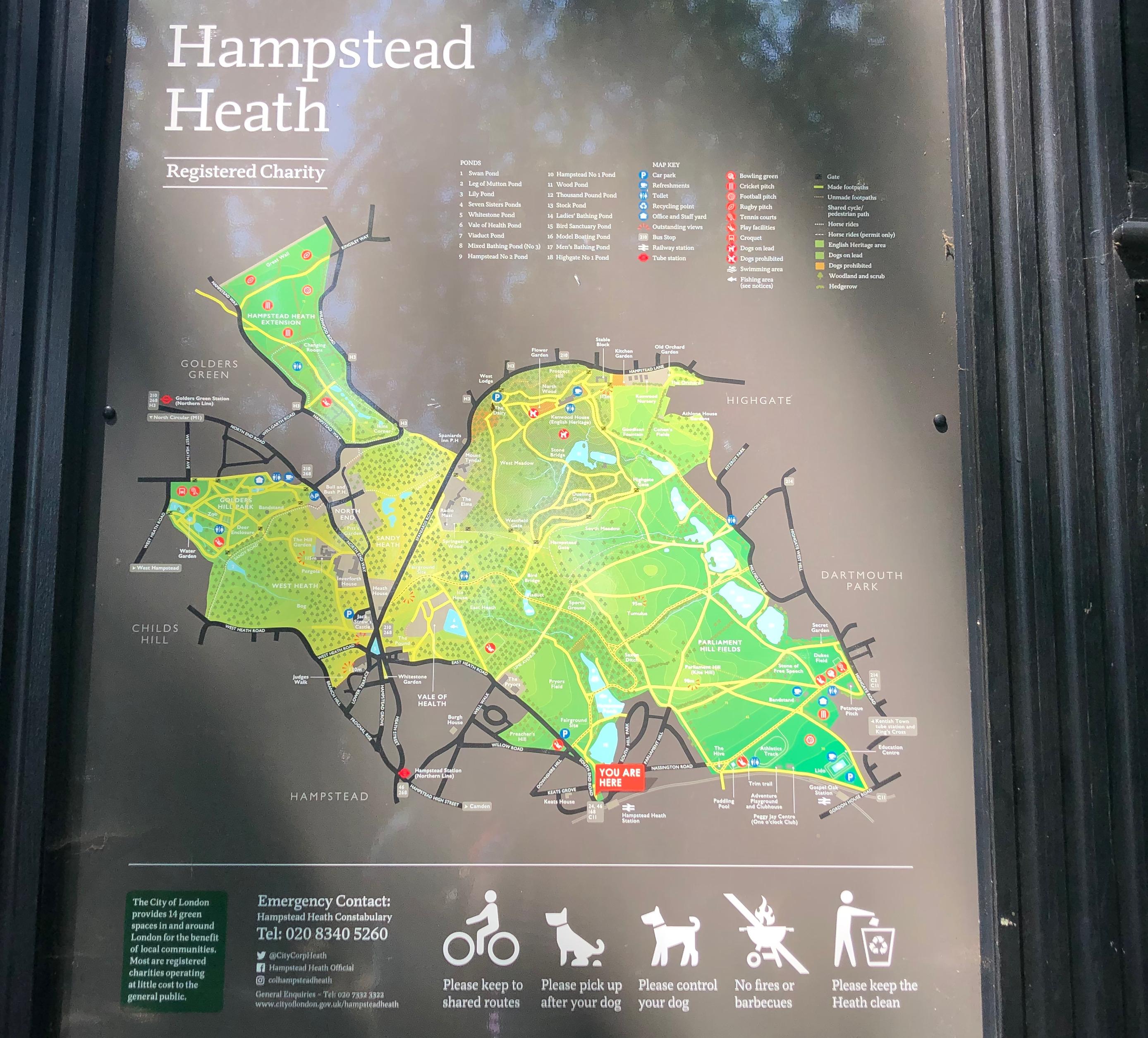 map of hampstead heath