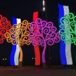 Fluorescent trees in Managua