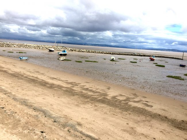 low tide morecambe bay