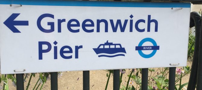 Luxury Livvy visits Greenwich by river boat
