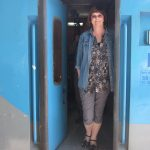 travel writer oliva on indian train