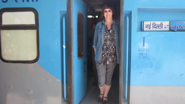 travel writer olivia greenway on indian train